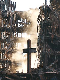 The Cross found in the ruins of the World Trade Center is an apt metaphor for evangelizing in the culture of death.
