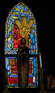 This window is in the Blessed Sacrament Chapel.