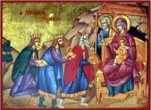 """""""...and going into the house they saw the child with Mary his mother, and they fell down and worshiped him. Then, opening their treasures, they offered him gifts, gold and frankincense and myrrh."""""""